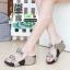 รองเท้าเพื่อสุขภาพ สายคาดมีดอกไม้ L1442-SIL [สีเงิน] thumbnail 1