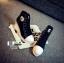 รองเท้าผ้าใบหุ้มข้อส้นเตารีดสีดำ ซิปข้าง Style Converse (สีดำ ) thumbnail 4