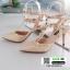 รองเท้าส้นสูง สไตล์ VALENTINO K9014-CREAM [สีครีม]
