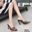 รองเท้าส้นสูงหัวแหลมแหลม ใสเปิดส้น H178-A12-BLK [สีดำ] thumbnail 3