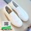 รองเท้าผ้าใบส้นเสมอ เย็บเกล็ดปลา G-1316-WHI [สีขาว] thumbnail 2