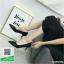 รองเท้าคัทชูส้นสูงสีดำ หัวแหลม ผ้าซาติน (สีดำ ) thumbnail 1