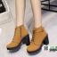 รองเท้าบูทส้นสูงนำเข้า JIH-888-BWN [สีน้ำตาล] thumbnail 3