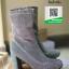 รองเท้าบูทส้นสูงสีเงิน ครึ่งข้อ ส้นแท่ง (สีเงิน ) thumbnail 7