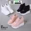 รองเท้าผ้าใบเสริมส้น A57-BLK [สีดำ] thumbnail 4