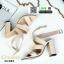 รองเท้าส้นสูงรัดข้อ ไขว้หน้า G1283-CRE [สีครีม] thumbnail 1