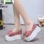 รองเท้าแบบสวมส้นเตารีด งานนำเข้า100% ST21-RED [สีแดง] thumbnail 3