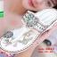 รองเท้าแตะแฟชั่นสีขาว Flowery Sandals (สีขาว ) thumbnail 3