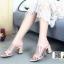 รองเท้าส้นสูงเปิดส้น งานหนัง HT11-CRE [สีครีม] thumbnail 2