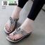 รองเท้าลำลอง แบบหูคีบหนังนิ่ม 6131-เทา [สีเทา] thumbnail 2