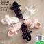 ผ้าใบสไตล์เกาหลีสายริปบิ้นโบว์ L26-WHI [สีขาว] thumbnail 5
