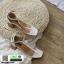 รองเท้าส้นสูงรัดข้อ T-Strapt พลาสติกใส G-1433-WHI [สีขาว] thumbnail 4