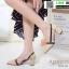 รองเท้าคัชชูงานหนังเนื้อนิ่มดีไซน์ทรงหัวแหลม B76-53-CREAM [สีครีม] thumbnail 2