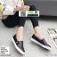 รองเท้าผ้าใบสวมปักงานสไตล์แบรนด์ดัง 202-BLK [สีดำ] thumbnail 2