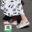 รองเท้าแตะผู้หญิงสีขาว ผ้าลูกไม้ (สีขาว ) thumbnail 4