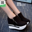 รองเท้าผ้าใบเสริมส้น ST014-BLK [สีดำ] thumbnail 2