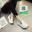 รองเท้าผ้าใบเสริมส้นสีขาว นำเข้า สไตล์เกาหลี (สีขาว ) thumbnail 2