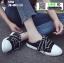 รองเท้าผ้าใบสวมเปิดท้าย ST55-BLK [สีดำ] thumbnail 1