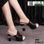 รองเท้านำเข้า100% ส้นแท่งแบบสวม ST920-BLK [สีดำ]