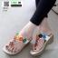 รองเท้าลำลอง แบบหูคีบหนังนิ่ม 6131-ขาว [สีขาว] thumbnail 2