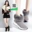 รองเท้าบูทเกาหลีสีเทา หนังวัวนิ่ม บุขน (สีเทา ) thumbnail 2