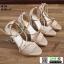 รองเท้าส้นสูงหุ้มข้อรัดส้น สไตล์valentino G5-274-CRM [สีครีม] thumbnail 2