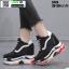 รองเท้าผ้าใบเสริมส้น ST26-BLK [สีดำ] thumbnail 1