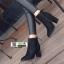 รองเท้าบูทส้นสูงหัวแหลมนำเข้า EJP-19508-BLK [สีดำ] thumbnail 3