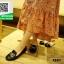 รองเท้าคัชชูหัวกลมสีดำ Loafer shoes (สีดำ ) thumbnail 5