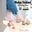 รองเท้าเพื่อสุขภาพ สายคาดมีดอกไม้ L1442-WHT [สีขาว] thumbnail 2