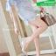 รองเท้าคัทชูส้นสูงสีครีม หัวแหลม แต่งหมุด (สีครีม ) thumbnail 3