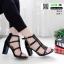 รองเท้าส้นสูง ส้นแมกซี่ 690-1-ดำ [สีดำ] thumbnail 2
