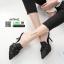 รองเท้าส้นสูงเปิดส้น สไตล์แบรนด์ ZARA A678-62-BLACK [สีดำ] thumbnail 2
