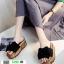 รองเท้าส้นเตารีด พื้นเสมอ G-1268-BLK [สีดำ] thumbnail 2