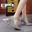 รองเท้าคัชชูทรงหัวแหลมงานผ้าวิ้งๆ 688-52-SIL [สีSIL] thumbnail 3