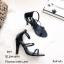 รองเท้าส้นสูงคาด 2 สาย A461-ดำ [สีดำ] thumbnail 3