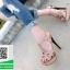 รองเท้าส้นสูงรัดส้นสีครีม YSL Tribute-Platfofm (สีครีม ) thumbnail 2