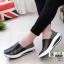 รองเท้าผ้าใบยางยืดเสริมส้น มีไซส์ 41 7013-ดำ [สีดำ] thumbnail 1