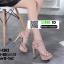 รองเท้าส้นสูงรัดข้อเปิดท้าย 18-1362-PNK [สีชมพู] thumbnail 3