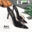รองเท้าส้นสูงหัวแหลมแหลม ใสเปิดส้น H178-A12-BLK [สีดำ] thumbnail 1
