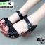 รองเท้าลำลองรัดส้น หนังนิ่ม ส้นไม้ 1630-BLK [สีดำ] thumbnail 2