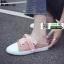 รองเท้าผ้าใบสวมเปิดท้าย ST55-PNK [สีชมพู] thumbnail 3