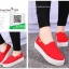 รองเท้าผ้าใบแฟชั่นสีแดง พื้นยางผสมกลิ่นหอมของดอกไม้ (สีแดง ) thumbnail 3
