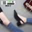 รองเท้าส้นสูงรัดส้น คริสตัล 850-5-BLK [สีดำ]