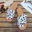รองเท้าแตะผู้หญิง ลายจุด มัดโบว์ G-1424-WHI(POINT) [สีขาว] thumbnail 2