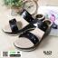 รองเท้าแตะพียู แบบสวม ส้นโฟม PU6097-BLK [สีดำ] thumbnail 3