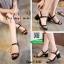 รองเท้าส้นตันรัดส้นสีดำ สไตล์เกาหลี งานนำเข้า (สีดำ ) thumbnail 2