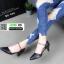 รองเท้าคัชชู หนังนิ่ม แบบเปิดข้าง B8-456-BLK [สีดำ] thumbnail 4