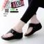 รองเท้าลำลองส้นเตารีดแบบคีบ 268-ดำ [สีดำ] thumbnail 1