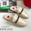 รองเท้าแตะส้นเตี้ยสีครีม slipper (สีครีม ) thumbnail 1